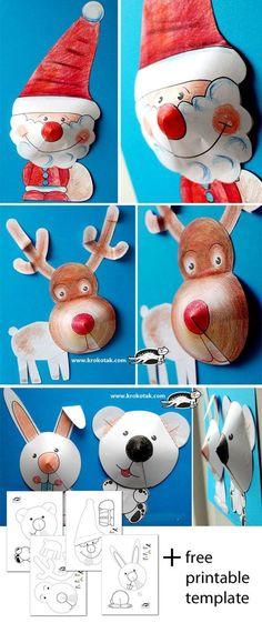 Christmas collages for the kiddos ad Argentovivo è piaciuta un sacco! con la colla ed il cotone abbiamo personalizzato il cappello ed il vestito di Babbo Natale, mentre il palco della renna lo abbiamo ritagliato nel cartoncino marrone