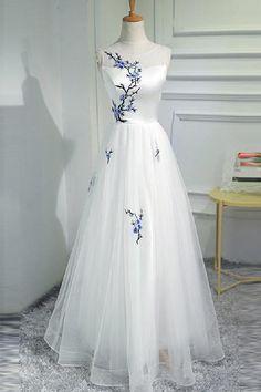 Ivory Prom Dresses #IvoryPromDresses, Wedding Dresses A-Line #WeddingDressesALine, Prom Dresses 2019 #PromDresses2019, A-Line Prom Dresses #ALinePromDresses, Cute Wedding Dresses #CuteWeddingDresses, Ivory Wedding Dresses #IvoryWeddingDresses