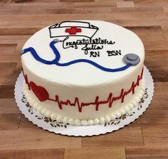Round Nursing Graduation Cake