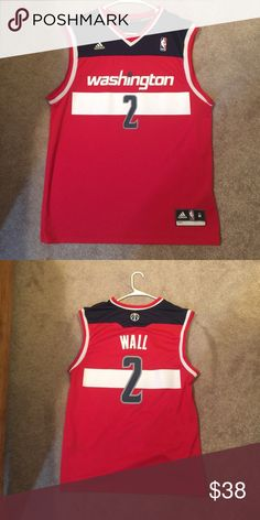 05e957b36 Washington Wizards John Wall jersey Barely worn adidas Shirts Tees - Short  Sleeve Washington Wizards