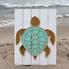 A personal favorite from my Etsy shop https://www.etsy.com/listing/460783868/handmade-turtle-with-rope-beach-pallet