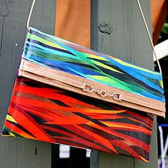 Thrift store wallets and purses make perfect candidates for this easy upcycling technique.