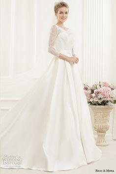 rico a mona bridal illusion long sleeve princess ball gown http://www.weddinginspirasi.com/2014/09/15/rico-a-mona-demure-bridal-collection/, #fall #2015 #wedding #dresses, #lightindreaming, , #fall #2015 #wedding #dresses, #lightindreaming,