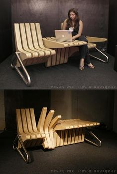 Brilliant adjustable bench / table / chair