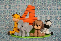 Topo de bolo safari #dayennebiscuit