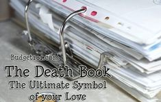 Death Book- the Ultimate Symbol of your Love - A practical guide to preparing your family due to accident or untimely death Family Emergency Binder, In Case Of Emergency, Emergency Preparedness Binder, Emergency Backpack, Emergency Kits, Organizing Paperwork, Life Organization, Paper Organization, Social Security Office