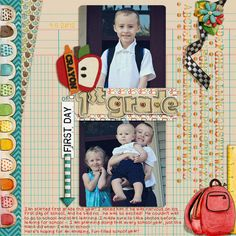 Ready for School by Laura Banasiak and mle Card  Color Me Pretty Templates Set 3 by Dagi's Temp-tations  Font: The Teacher's Pet by Heather Hess