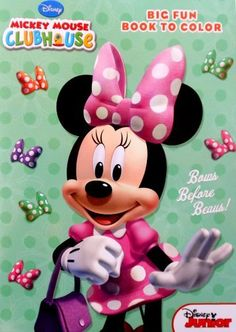 """Disney Minnie Mouse Big Fun Coloring Book for kids """"Bows before Beaus!"""" by Dalmatian Press, LLC. $6.98. Games, puzzles, mazes, writing activities and coloring fun with favorite Disney® characters.. Great gift for your favorite Minnie Mouse enthusiast. Hours of fun. Minnie Mouse Coloring Book by Disney Junior.  Coloring book titled """"Bows before Beaus!""""  Features Disney Junior Minnie Mouse and friends.  With 96 pages full of coloring fun and activities for kids.  For ages..."""