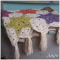*Châle étoiles, au crochet, free pattern*