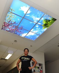 Ever heard of a 'Sky Factory'? Recently, Townsville Cancer Centre (TCC) lost their natural skylights outside the radiotherapy bunker area. Using funds raised from last year's campaign, TCC has installed luminous skytiles (visual ceiling art) in the same location to create a more tranquil environment to reduce patient anxiety and stress.