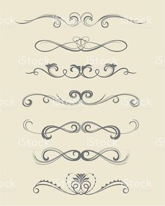 scroll design royalty-free stock vector art