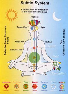 Subtle body of three energy channels (nadis)