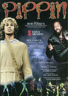 PIPPIN DVD - Bob Fosse directed and choreographed this musical comedy about Pippin, the son of Holy Roman Emperor Charlemagne. With William Katt, Ben Vereen, and Chita Rivera, and an amusing pop-rock score by composer/lyricist Stephen Schwartz (God spell). 112 min. +Fosse interview.