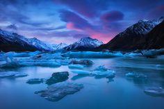 Mount Cook, Lake Tasman, iThe Silent Wanderer. by Darren J Bennett on 500px