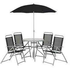 Wilko Garden Furniture Round Patio Set Black 6 Piece at wilko.com £60