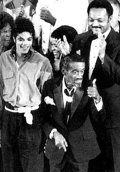#MichaelJackson with #SammyDavisJr. and #JesseJackson  © Raynetta Manees, Author