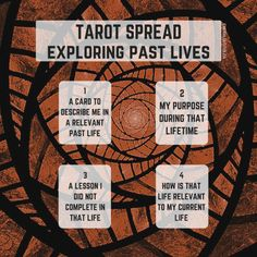 A simple Past Life tarot spread. For more information on this and other spreads, please visit: www.emeraldlotus.ca