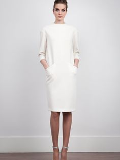 The 2nd Skin Co. White neoprene dress.  #Fashion #Women #Dress Office Outfits, Stylish Outfits, Designer Plus Size Clothing, Girls Dresses, Dresses For Work, Looking For Women, Plus Size Women, Casual Chic, Plus Size Outfits