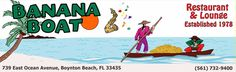 Another great restaurant/bar in Boynton Beach Florida. I heartily recommend it if you are in the area! Banana Lounge, Banana Boat, Boynton Beach Florida, Boat Restaurant, Unique Restaurants, Patio Bar, Palm Beach County, South Florida, Wonderful Places