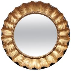 Round French Mirror   1stdibs.com-This is pretty too