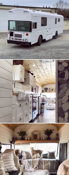 There are a lot of people around the world dreaming about tiny house and go for their dream! You will find 30 awesome examples of perfect School Bus and van conversions into tiny House - for couples, for family of for one person and so one. School Bus Tiny House, School Bus Camper, Vans, Kombi Motorhome, Rv Campers, Vintage Motorhome, Vintage Campers, Volkswagen, Converted School Bus