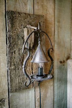 mount light fixture on bark tile