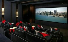 Home Theater Setup with Home Theater Seating Home Cinema Room, Home Theater Decor, Best Home Theater, At Home Movie Theater, Home Theater Rooms, Home Theater Design, Home Theater Seating, Home Decor, Home Entertainment