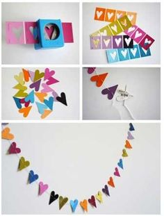 DIY Heart Banner - DIY Valentines Day Projects