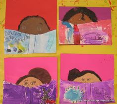 Color, collage, and much more: so cute I had to post... reading self-portrait