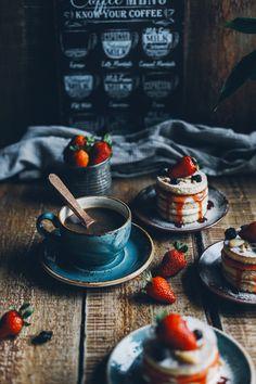 mini pancake cake   food photography and styling   dark food photo