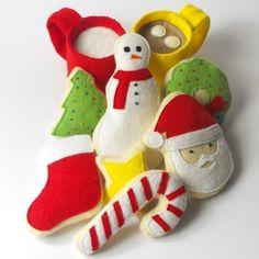 Felt Food Pattern Christmas Cookies