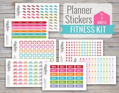 Fitness Kit of Planner Stickers  Bundle of by TheNiftyStudio