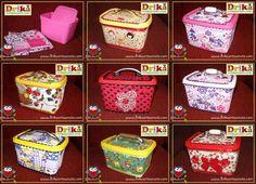 Artesanato em tecido: Pote de margarina decorado | Drika Artesanato - Dicas e sugestões sobre artesanato.