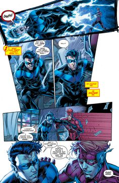 Dick Grayson and Wally West were best friends before the Flashpoint event occurred. From - Titans - Rebirth Nightwing, Batgirl, Dc Comics, Batman Comics, Wally West Rebirth, Titans Rebirth, The Flashpoint, Richard Grayson, Univers Dc