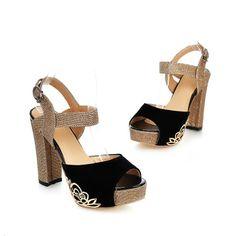 Fashion Women High Chunky Heel Platform Peep Toe Ankle Strap Party Wedding Shoes | eBay