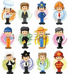 Photo Cartoon characters of different professionsCartoon characters of different professions English Activities For Kids, English Worksheets For Kids, Job Pictures, School Pictures, Drawing For Kids, Art For Kids, Community Helpers Preschool, Community Workers, Cartoon Kids