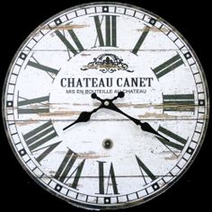 Large 58cm Shabby Chic Vintage Style French Provincial Wall Clock Classic Design