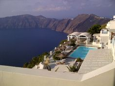 Santorini Astarte Suites. It's a little 9 suite boutique hotel with lots of privacy and seems to be a favourite for honeymooners. Their views are equally breathtaking.