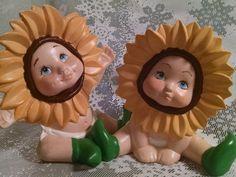 Vintage Handmade Sunflower Babies, baby nursery decor, baby, diapers, vintage baby nursery, Sunflower, Sunflowers, new baby gift,baby shower by Vintagepetalpushers on Etsy