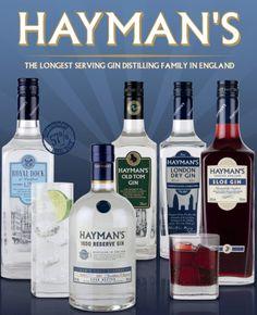 Hayman´s Gin, London, Sloe Gin, Old Tom Gin, Royal Dock Gin, 1850 Reserve Gin, Dry Gin