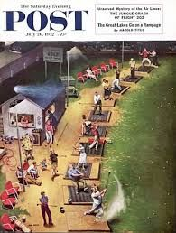 Golf Driving Range by  John Philip Falter, July 26, 1952, The Saturday Evening Post.