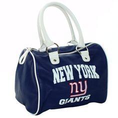 f40685445 New York Giants Ladies Cheer Bowler Purse - Royal Blue White
