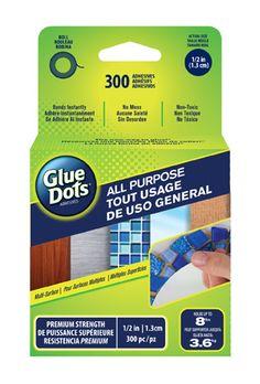 Introducing new All Purpose Glue Dots! #adhesive #doublesided #glue #craftglue #allpurposeglue #Michaels
