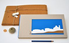 Handmade photo album island village_papercut_eco by semioX on Etsy