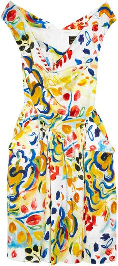 I've wanted this dress for SOOO LONG!!!!! Marghi Printed Cotton Dress - Lyst
