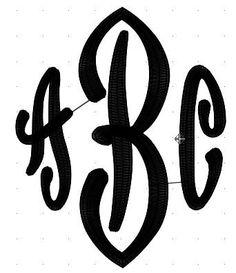 Custom Monogram Machine Embroidery Design. $2.99, via Etsy.