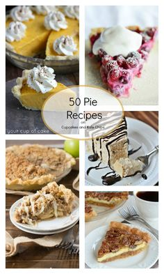 50 Pie Recipes for all your fall and holiday dessert baking! | cupcakesandkalechips.com