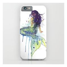 Mermaid iPhone 6s Case ($35) ❤ liked on Polyvore featuring accessories, tech accessories and iphone & ipod cases