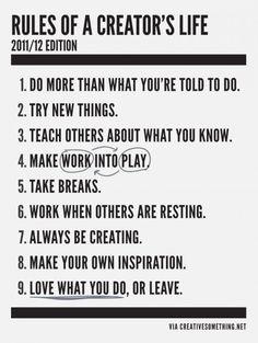 A creator's life