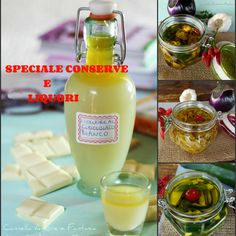 Raccolta di ricette conserve e liquori fatti in casa Cocktail Juice, Alcoholic Drinks, Beverages, Kitchen Witch, Limoncello, Hot Sauce Bottles, Healthy Drinks, Italian Recipes, Smoothies